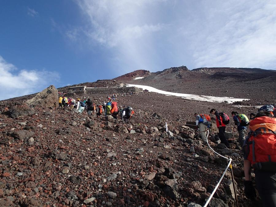 View of the summit from Fujinomiya Trail Route's 7th station