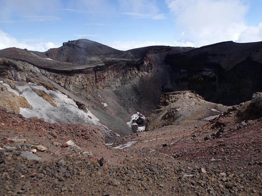 Mt. Fuji's summit and its gaping crater