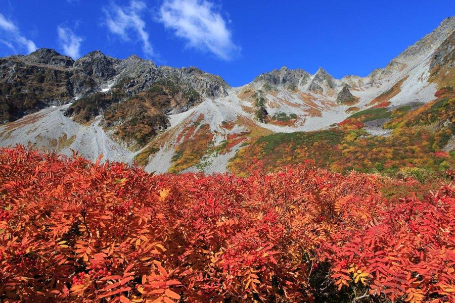 The Karasawa Cirque is one of Japan's most popular alpine spots for autumn foliage