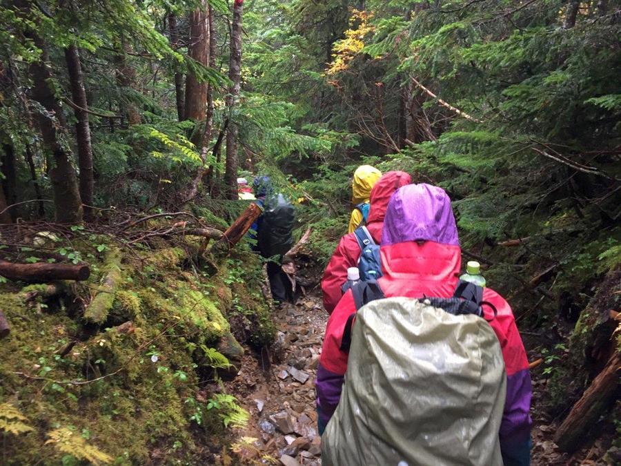 Trail descending from Chogatake Hutte