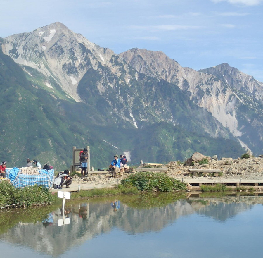 The Hakuba Sanzan and Happo-ike Pond