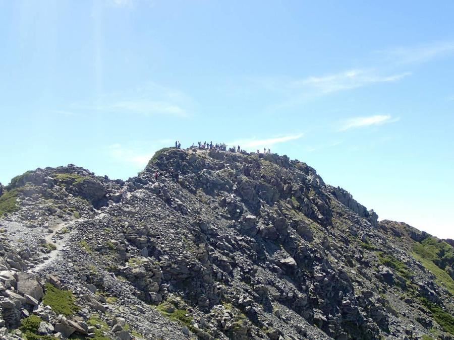 The summit of Mt. Kitadake