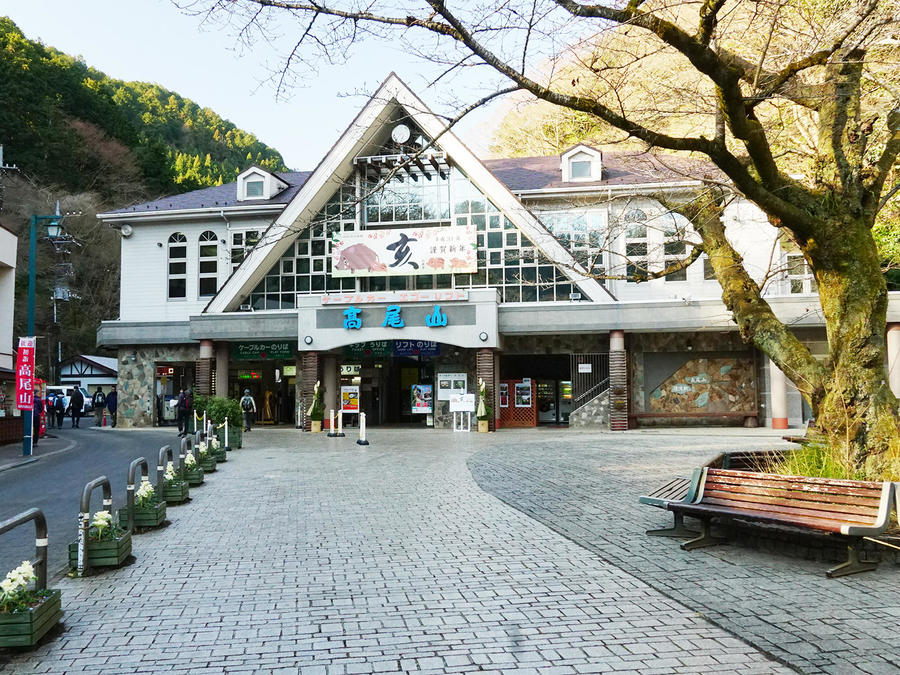 Kiyotaki Station, the boarding point for the cable car.