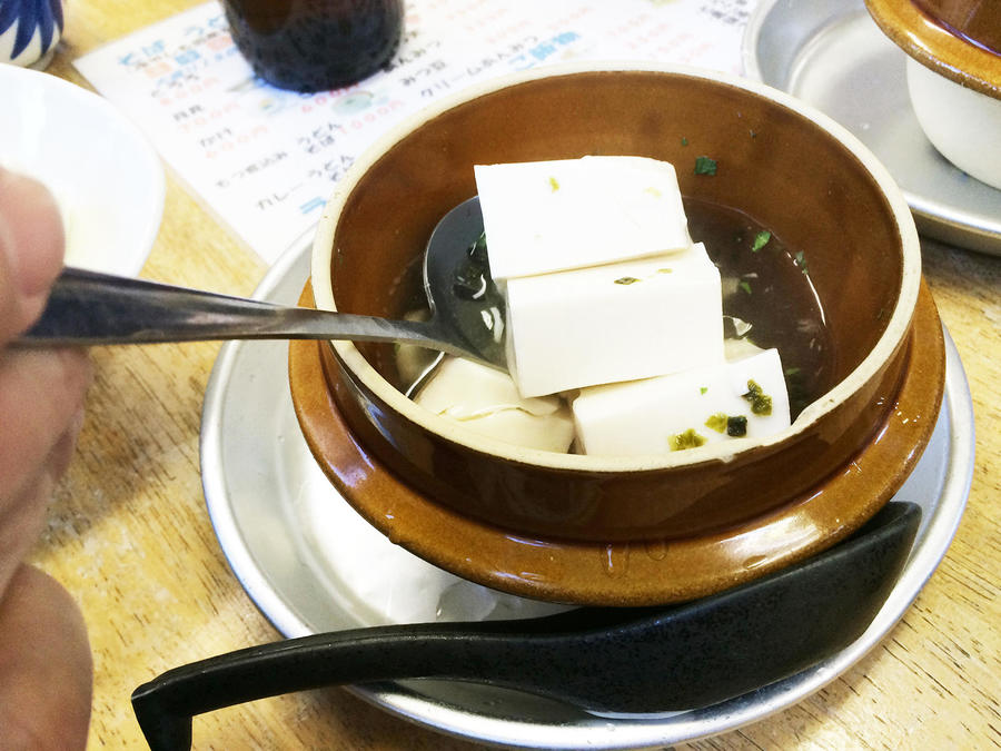 Tofu, a specialty of the Mt. Oyama area.
