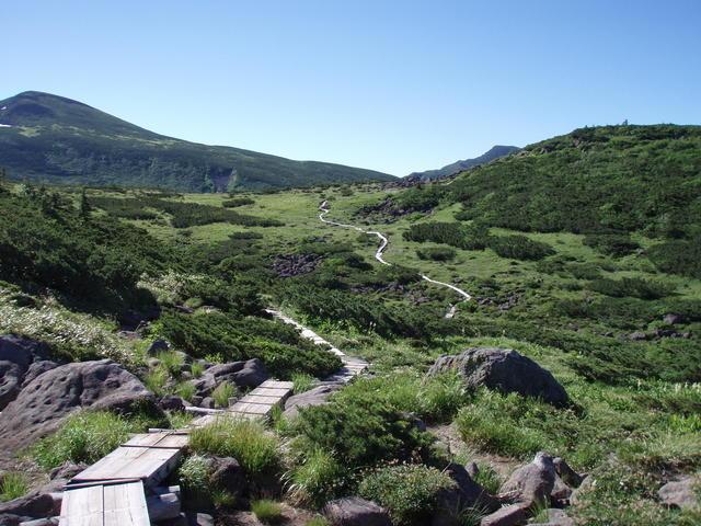 Kumono-daira, a gently sloping lava plateau.