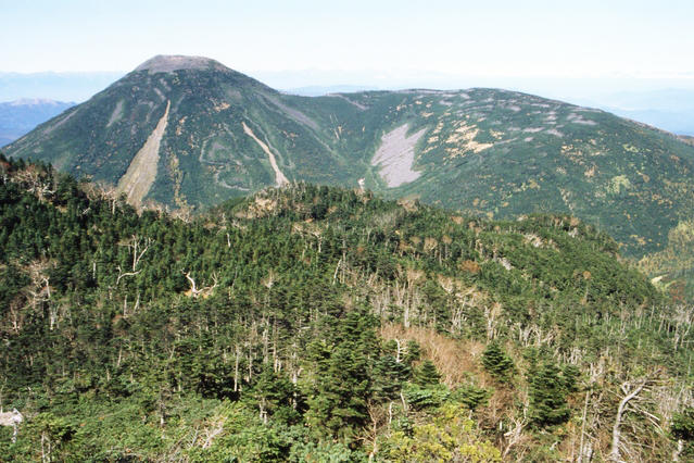 View of Mt. Tateshina from Mt. Kitayokodake