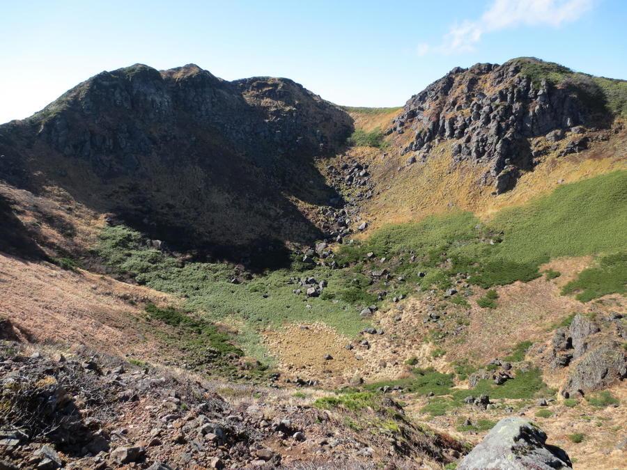 The volcanic crater of Mt.Idodake