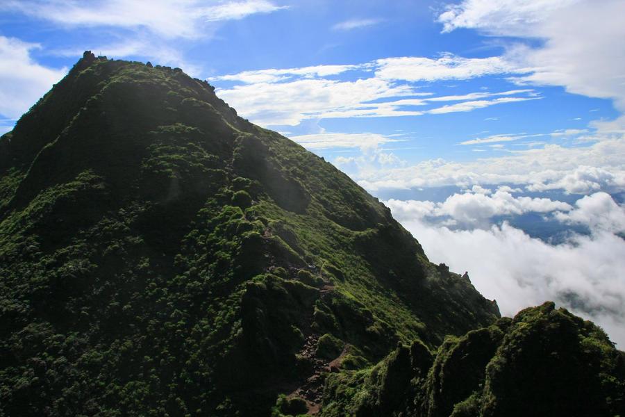 The east peak of Mt. Yufu.