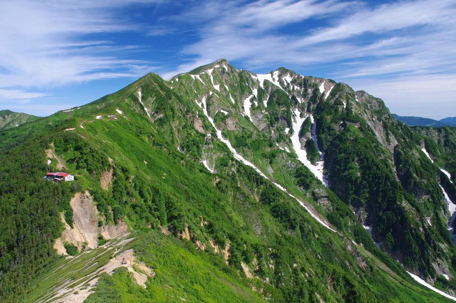 Mt. Kashima-yarigatake and Tsumetaike-sanso.