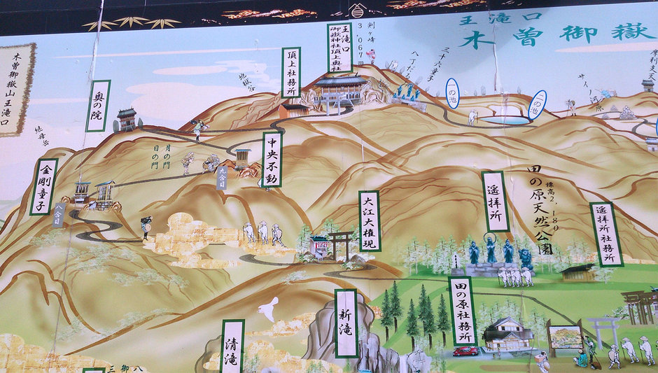 Illustrated map of Mt. Ontake