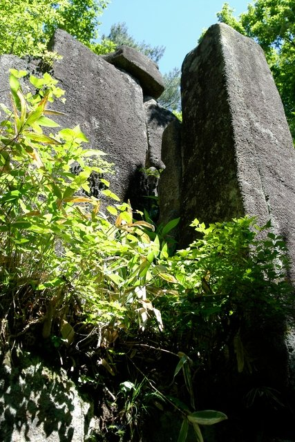 Gigantic stones of Mt. Ashitake