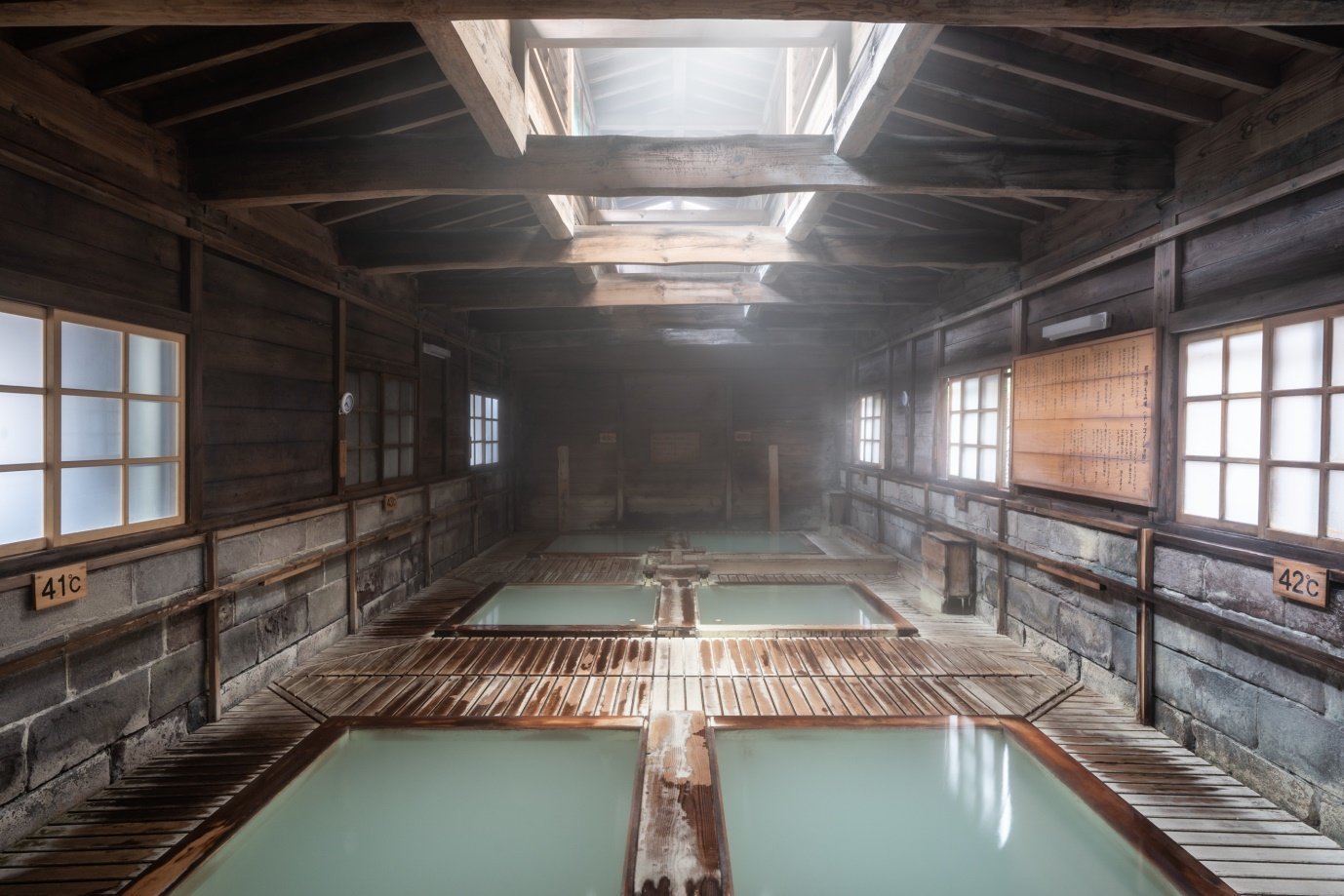 Shika-no-yu is a bathhouse steeped in history that offers six bathes for you to have a dip in, the ideal finish to a day of hiking